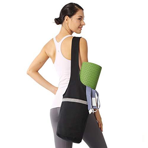 Bolsa de esterilla de yoga con bolsillo de gran tamaño y bolsillo con cremallera, se adapta a la mayoría de las esterillas de tamaño Ligera esterilla de yoga Tote Sling Carrier para mujeres