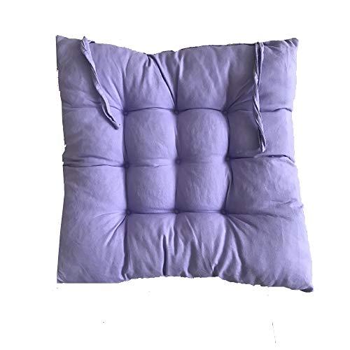Sitzkissen Sitzauflage, hochwertige Qualitäts-Polsterauflage für Gartenmöbel, 40x40x5cm, 1-Stück,Mehrere Farben zur Auswahl (Helles Lila)