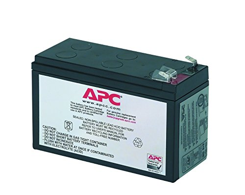APC UPS Battery Replacement, RBC2, for APC Back-UPS Models BE500R, BK300C, BK350, BK500, BK500BLK, BK500M, BK500MC, BK500MUS, and SC420, SU420NET black