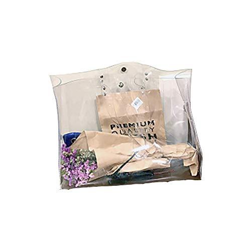 Shuny Transparente bag,Transparente Umhängetasche,Wasserdichte Tasche,Weiblich Handtasche,Kunststoff PVC Umweltfreundliche Taschen Für Shopping Mode Umhängetasche (Farbe : Clear)