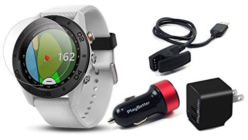 Garmin Approach S60 Golf GPS Watch (Black) Power Bundle | +PlayBetter HD Screen Protectors & USB...