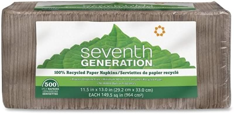 Seventh Generation Natural Lunch Napkins 500 Ct 2 Pk