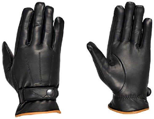 Riders Trend Erwachsene Reiter Handschuhe Kuh-Lederreithandschuhen, Black, S