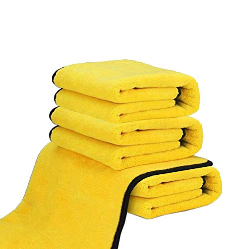 Dry Towel for Cars, (4 Pack) Microfiber Extra Thick Cleaning...