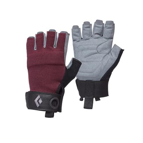 Black Diamond Women's Crag Half-Finger Gloves Gants d'escalade, Bordeaux, Medium