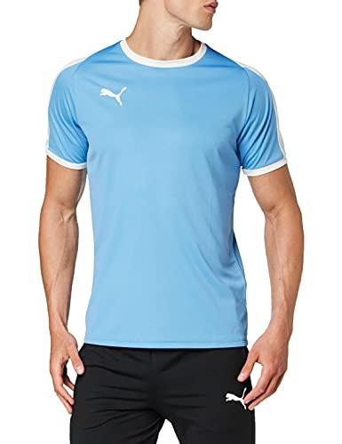 Puma Liga, Maglietta Uomo, Blu (Silver Lake Blue White), M