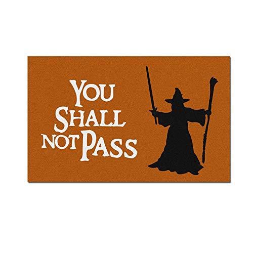 """Felpudo de barrera para pasillo, interior y exterior, con texto en inglés """"You Shall Not Pass"""""""