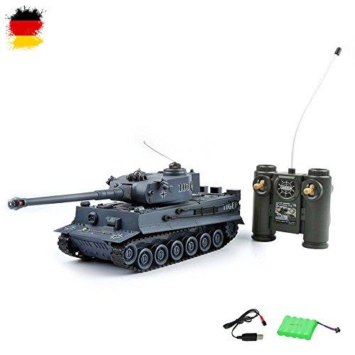 HSP Himoto German Tiger I - RC Ferngesteuerter 2,4Ghz Panzer 1/28 Modell, Tank, Gefechtmodi, Schusssimulation, Sound, Neu