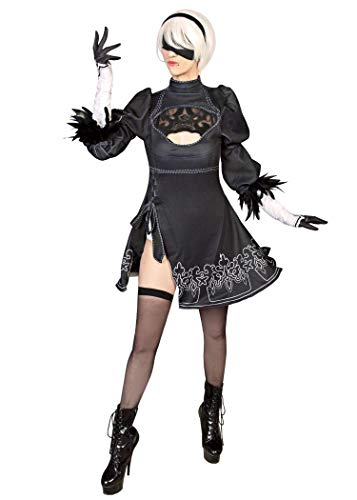 DAZCOS US Size No 2 Type B Cosplay Leotard Dress 2b Costume with Blindfold (Women X-Small)