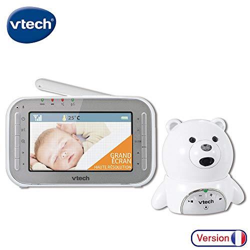 VTech – Babyphone Vidéo XL Ourson – Babyphone vidéo grand écran – Camera HD – Ecoute bébé sans fil