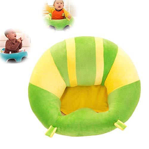 JUMOWA Almohada de asiento para bebé, sofá de felpa para bebé para aprender a sentarse, Verde, 40 x 40 cm