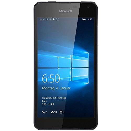Microsoft Lumia 650 Smartphone 5 Zoll (12,7 cm) Touch-Display, 16 GB Speicher, Windows Phone Schwarz Simlock frei (Generalüberholt)