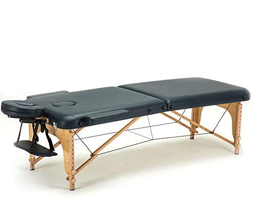 JHKGY Lichtgewicht massageligstoel met geïmporteerd beukenframe, lengte met hoofdsteun 84 inch, 2 vouwen, mooie, therapie-bed W/gratis draagtas, face cradle, armleuningen