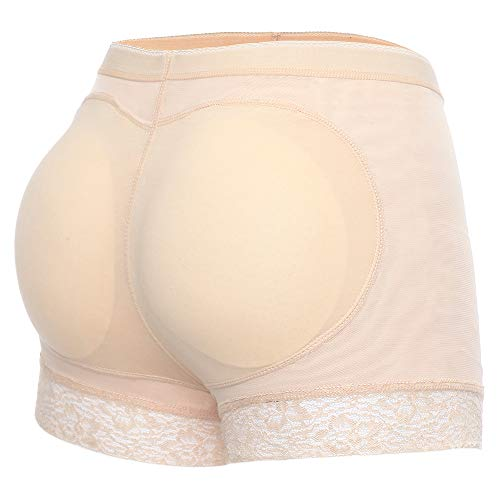 Joyshaper Butt Lifter Shapewear Padded Underwear Women Butt Hip Enhancer Shaper Seamless Fake Butt Panties Pads Nude