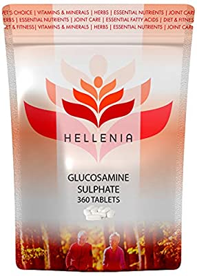 Hellenia Glucosamine Sulphate 2KCL 1000mg - 360 Tablets - Joint Care Supplement