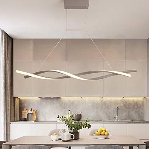 Lámpara de Techo LED Para Comedor Comedor Salón Decoración Lámpara de Techo Regulable Estilo Rústico Moderna Altura Regulable Para Dormitorio Oficina Baño Cocina Lámpara de Techo com Mando a Distancia