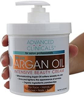 Advanced Clinicals Spa Size Pure Argan Oil Intensive Beauty Cream. Anti-aging Cream for..