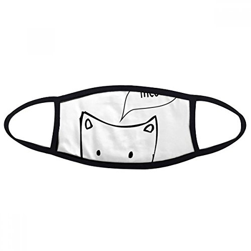 DIYthinker witte kat hoofd miauw eenvoudige lijn tekenen beschermen dier gezicht anti-stofmasker anti-koude masker