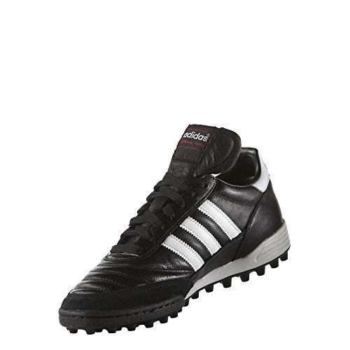 adidas Mundial Tea Unisex Adult Football Training Shoes, Black (Black/Running White Footwear/Red),...