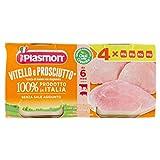 Plasmon Omogeneizzato Vitello e Prosciutto, 4 x 80 g