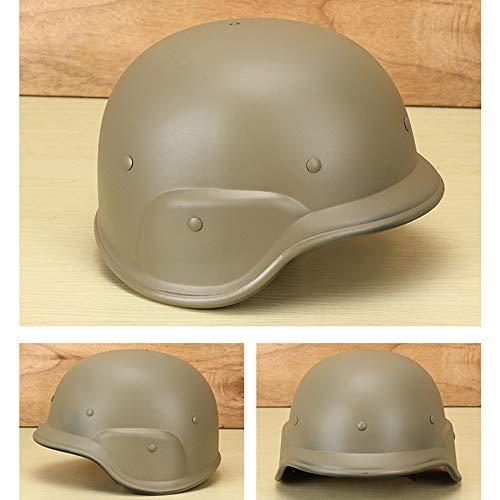 Viktion Taktischer Gefechtshelm Schutzhelm Paintball-Helme 24.3cm*17.3cm*27.3cm (Khaki)