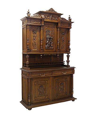 Buffetschrank Schrank Aufsatzschrank Antik um 1900 aus Eiche B: 143 cm (8803)