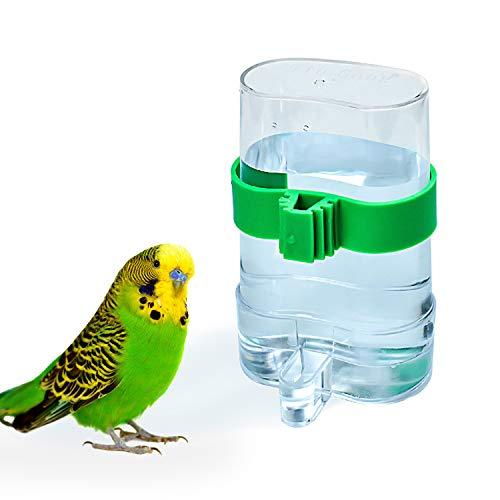 COCOCITY Suministros para pájaros para mascotas, dispensador de agua, dispositivo de alimentación automático para loros, periquitos, cacatúas