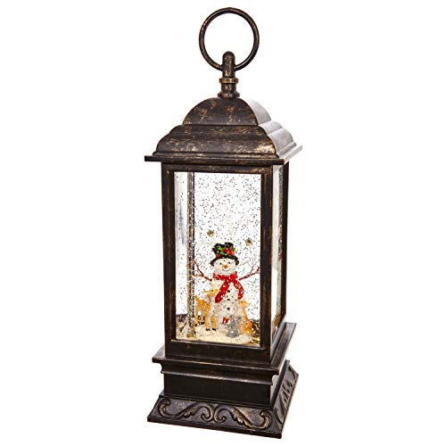 RAZ Imports 11' Snowman Lighted Water Lantern With Music
