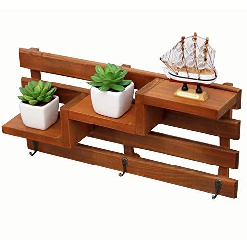 Family Needs Originative roestvrij stalen ladder wandplank opslag tafelcombinatie legvlak (Color : Brown, Size : 40 * 8.7 * 18.8cm)