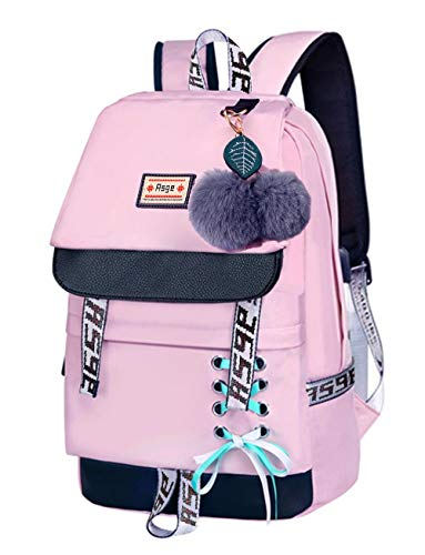 Asge Girls Backpack School Bags for Girls Nylon Waterproof College Rucksack Fashion Casual Daypack Women Bookbag Boys Schoolbag Teenagers Durable Unisex Student Backpacks