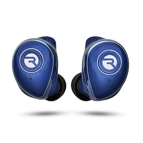 Raycon The Performer E55 True Wireless Bluetooth Earbuds - Bluetooth 5.0 Deep Bass in-Ear Headphones with Wireless Charging and Built-in Microphone Blue