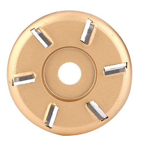Accesorio para amoladora angular, disco para tallar madera práctico y fácil de instalar, conveniente disco para tallar de 6 dientes, para tallar madera para trabajar la madera
