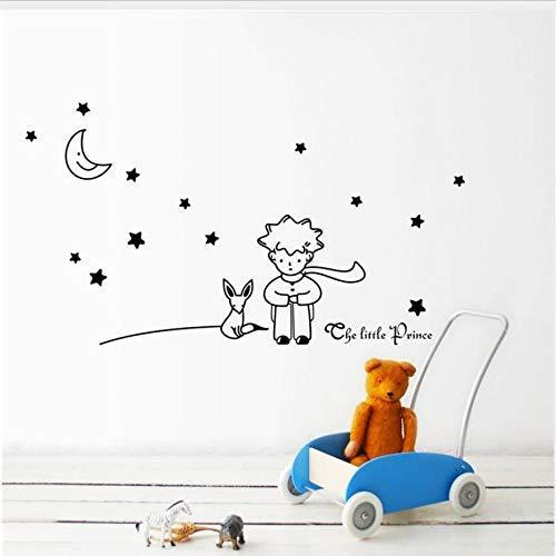Le Petit Prince Fox Star Moon Wall Sticker Kids Baby Nursery Room Decor Enfant Cadeau Vinyle Autocollant Décoration Murale Art 96X42Cm