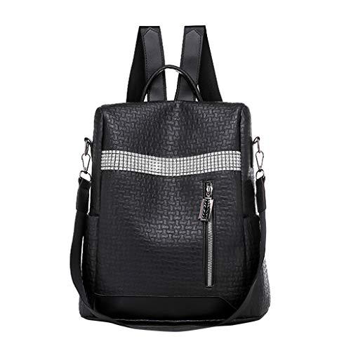 FBGood Damen Mode Schulrucksack, Reisetasche Patchwork Weich PU Leder Rucksack Großer Kapazität...