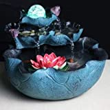 resin feng shui water fountain ornament living room home decoration office bonsai fish pond