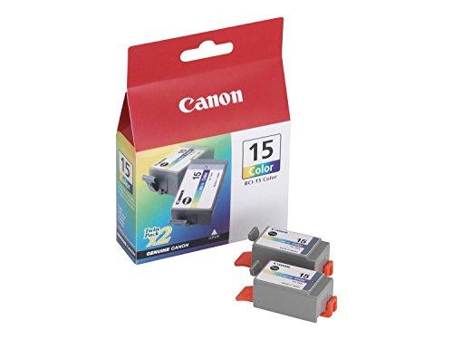 Canon BCI-15 C Original Tintenpatronen, Doppelpack 2x8ml mehrfarbig