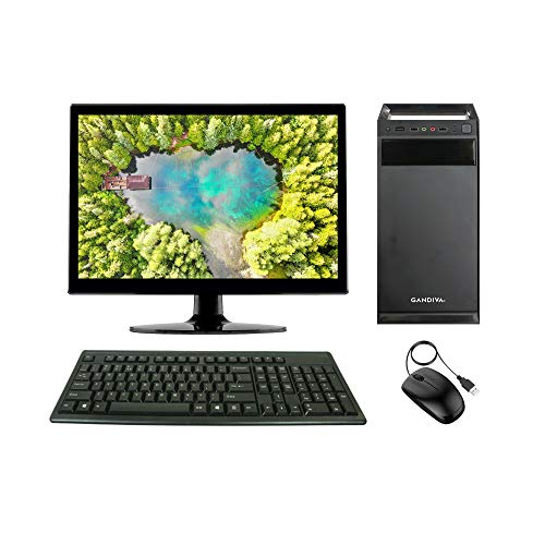 Gandiva ® Economical 15.6-inch All in One C2D Desktop Computer (Core2Duo/4GB/250GB HDD/Windows 7(Trial Version) MS Office (Trial Version) & Antivirus (Free Version)