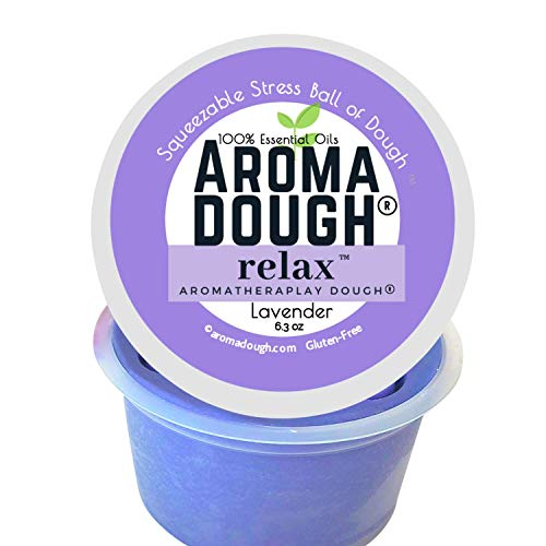 Aroma Dough LAVENDERTherapy Dough – Relax Essential Oil Play Dough – Gluten-Free & Non-Allergenic – Child & Adult Therapy Tools – Reduce Stress and Anxiety – Sensory Fidget Equipment–Clay Putty
