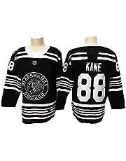 NHICR Kne Blckhwks - Camiseta de hockey sobre hielo para hombre, sudadera de manga larga deportiva, transpirable, para ventilador, talla M