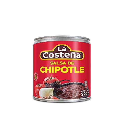 La Costena Salsa Chipotle | 200ml | Mexikanische Küche | Pikant mit mit einem rauchigen Aroma | scharf- aber nicht zu scharf | Geeignet zum Verfeinern von Saucen und Dips | Hervorragender Geschmack