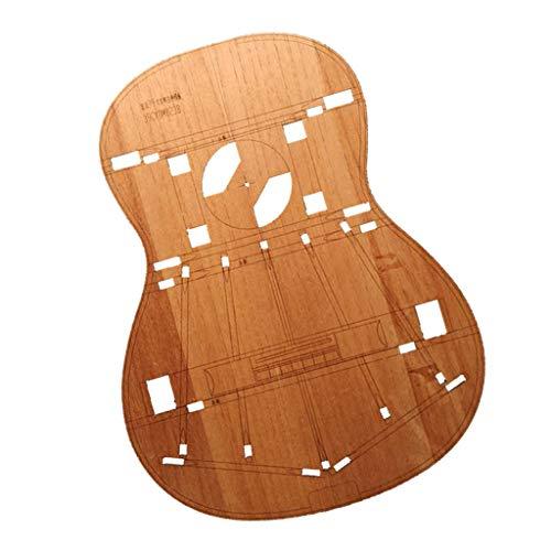 Holz Gitarren Body Template für Hermann Hauser Gitarre machen