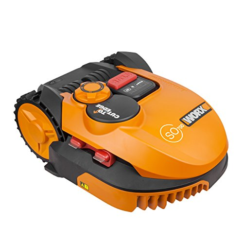 Worx wr115mi Landroid Rasen maehroboter so700i fino a 700M2, App PROGRAMMAZIONE, bordi per prato maehfu ktion, Multi Zone Arancione, 52.2W, 240V