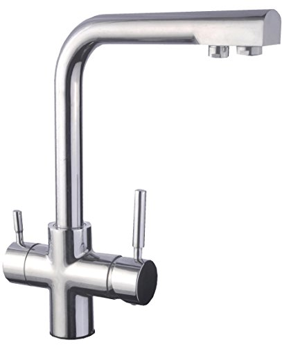 DP Griferia - Grifo de cocina de caño alto con sistema de osmosis, doble salida