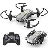 GZTYLQQ Mini dron Plegable con cámara 4K HD HD, avión de Control Remoto eléctrico de 2.4G, Sensor de Gravedad cuadricóptero, altitud barométrica, despegue/Aterrizaje con un Clic Gris