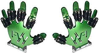 Finger Weights Original - Set of 10 - for Music Sports Gamers and Health Black or Multicolor Grip Strength Hand Grip Strengthener Speed Trainer (Black)