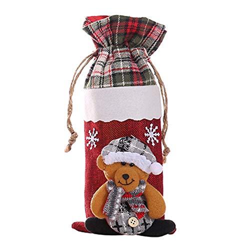 Hzb821zhup Rotweinflaschen-Set Weintüte Tasche Champagner Weinflasche Abdeckung Tasche Party Tischdeko, Bear#, Einheitsgröße