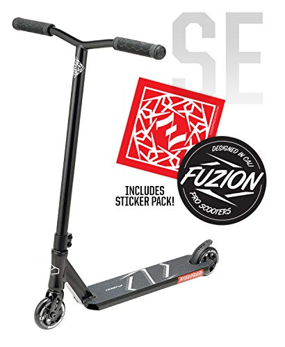 Fuzion Z250 Pro Scooters - Trick Scooter - Intermediate and Beginner Stunt Scooters for Kids 8 Years and Up, Teens and Adults – Durable, Smooth, Freestyle Kick Scooter for Boys and Girls (SE Black)