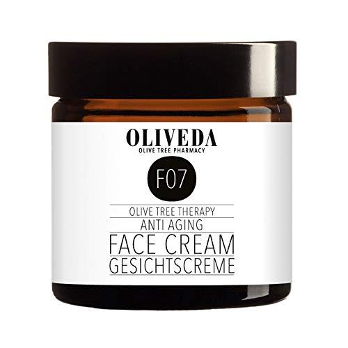 Oliveda F07 - Gesichtscreme Anti Aging mit Avocado-Öl   natürliches Anti-Aging Lift Creme + Anti-Falten + reduziert schlaffe Haut & Altersflecken + feuchtigkeitspendend mit organischen Inhaltsstoffen - 50 ml