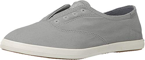 Keds Women's Chillax Washed Laceless Slip-On Sneaker,Drizzle Gray,9.5 M US