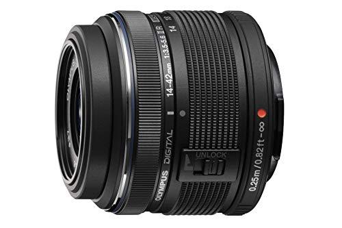 Olympus Objetivo M.Zuiko Digital 14-42mm F3.5-5.6 II R, Zoom estándar, Adecuado para Todas Las cámaras MFT (Modelos Olympus OM-D & Pen, Serie G de Panasonic), Negro